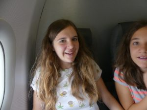 Enfin dans l'avion !
