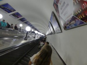 Moscou escalators
