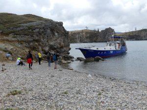 départ du bateau au port