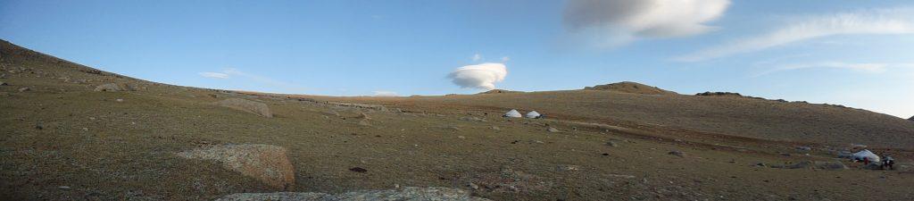 Paysage en monde kazakh à 2510m d'altitide