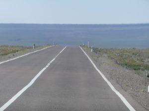 route droite et sans personne
