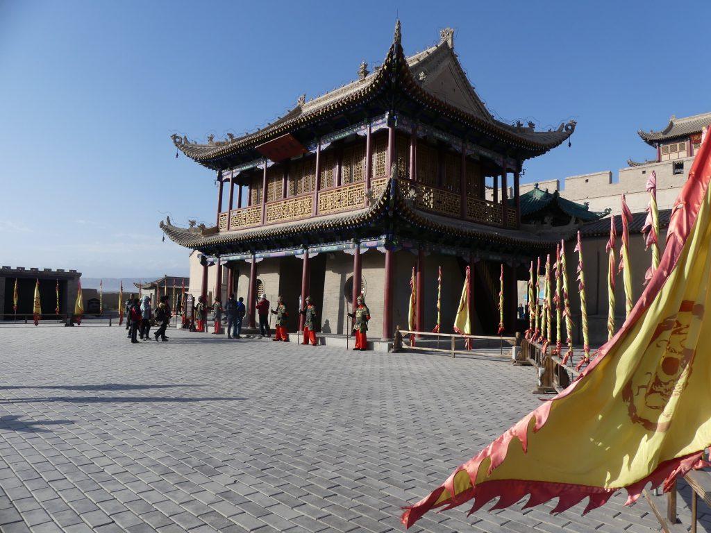 La forteresse qui ouvre le passage sur l'extrémitité Ouest de la Muraille de Chine