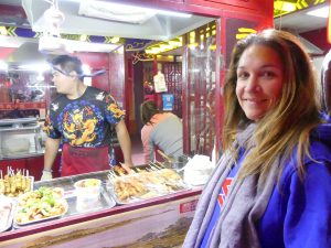 Marché nocturne pour manger