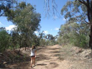 Audrey sur le parcours vert
