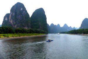 La photo traditionnelle de la rivière Li, à côté de Guilin