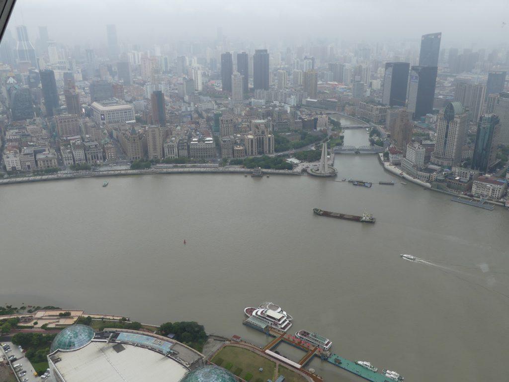 """Vue sur Shanghaï depuis la tour TV """"perle de l'Orient"""""""