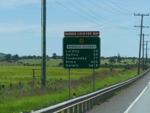 distances en Australie : bien souvent trois ou quatre chiffres