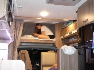 dans le camping car, notre petite maison