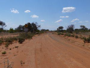 le chemin vers la voie ferrée du Ghan