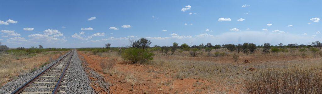 la voie du Ghan, le train Nord-Sud au milieu de l'Australie
