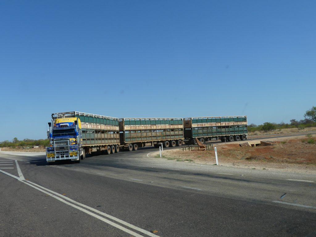 un road train dans l'outback
