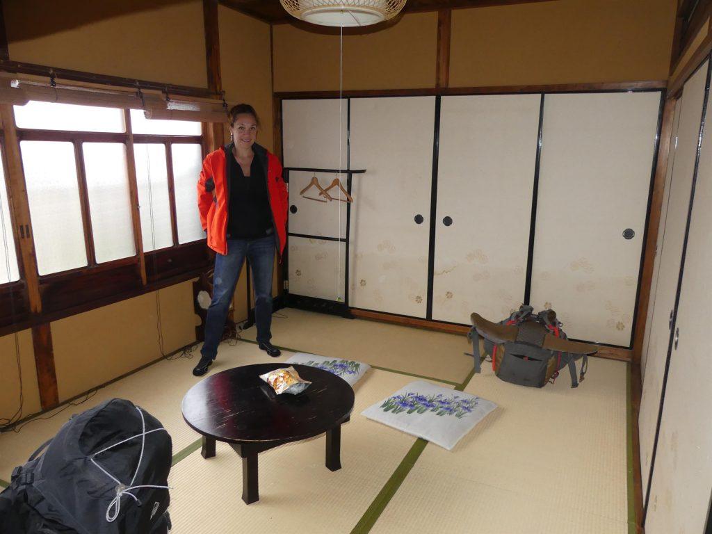 Dans la guesthouse touristique à Osaka