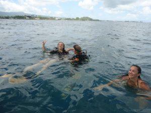 Eve au retour de sa plongée : succès !