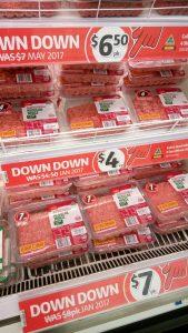 prix du boeuf au supermarché du coin