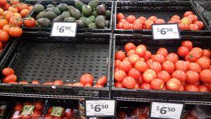 prix de quelques légumes au même supermarché (origine Australie)