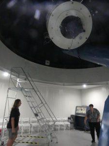 à l'intérieur de l'observatoire
