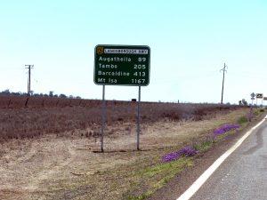 Exemple de distances normales en Australie.