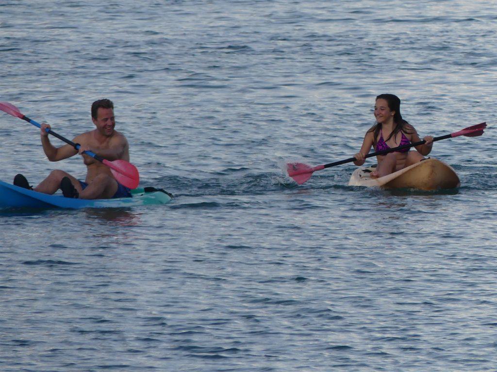 Course de kayak