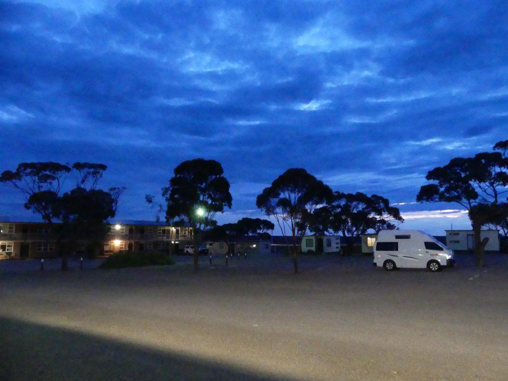 Woomera : camping le soir
