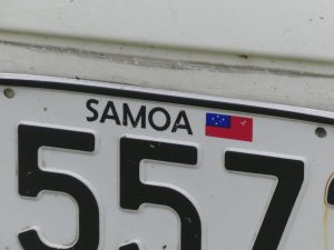 Plaque de Samoa