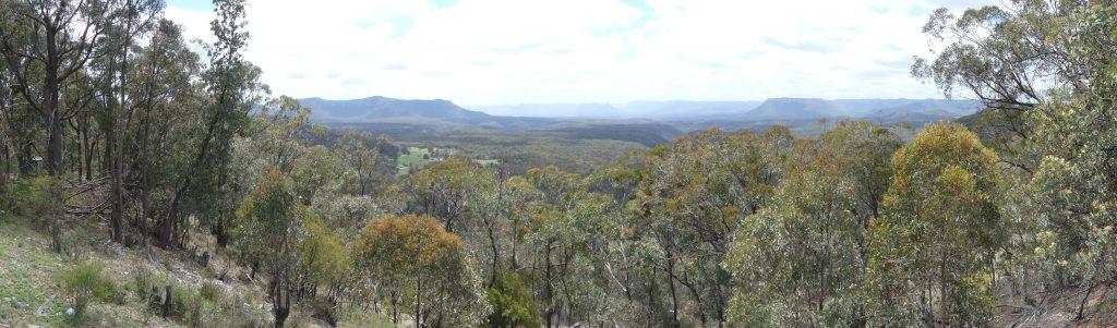 panorama des blue mountains (pas à Echo point, là c'est pour les touristes)