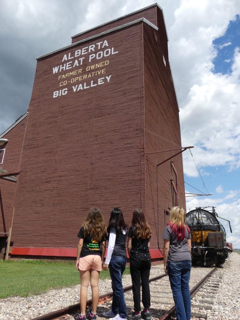 Big Valley : l'élévateur à grain (et le silo), aujourd'hui abandonnés car les camions ont remplacé les trains
