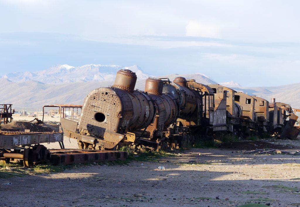 Cimetière de trains - le soir (15