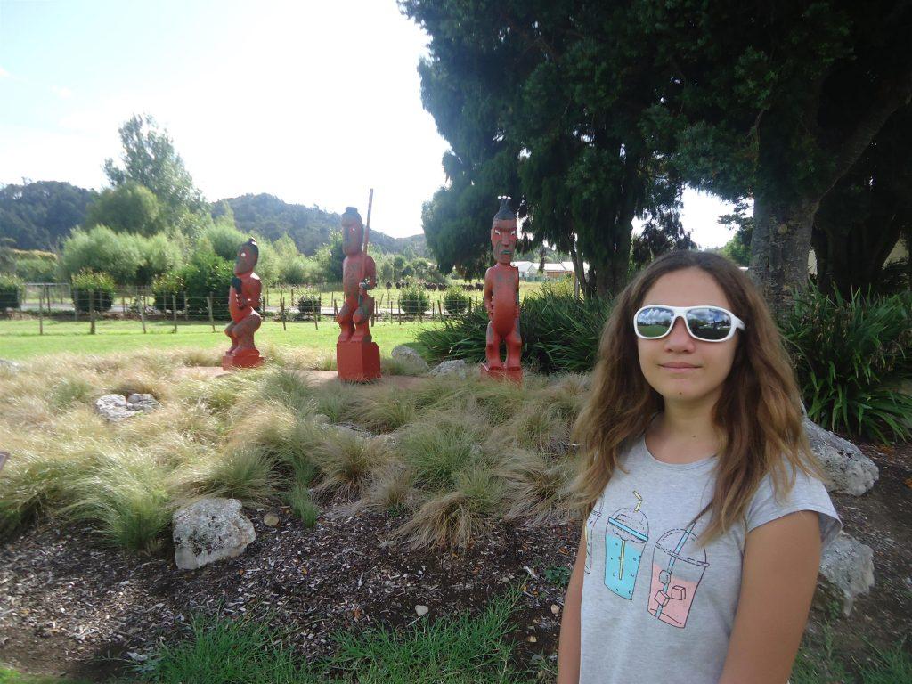 Statues d'art Maori