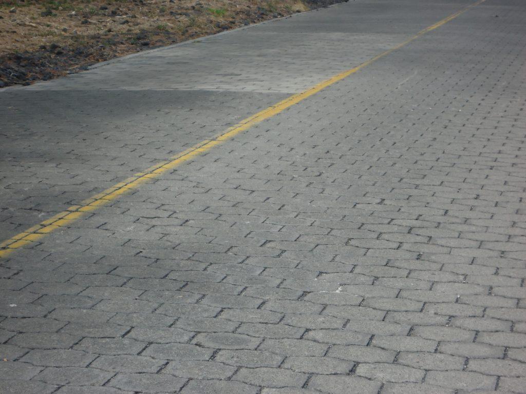 route pavée sur l'île d'Ometepe