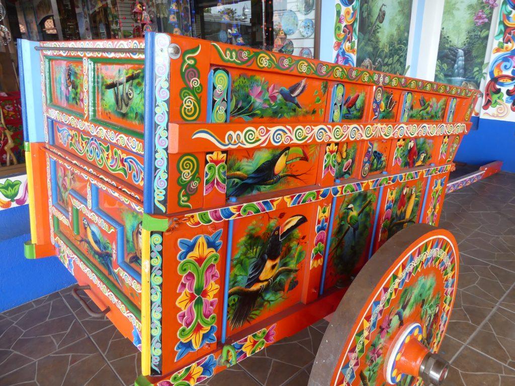 le chariot peint traditionnel