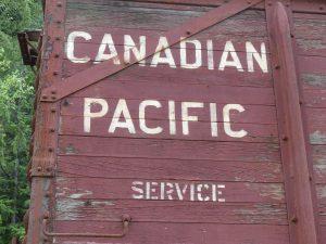La compagnie qui opérait ces wagons était le Canadian Pacific