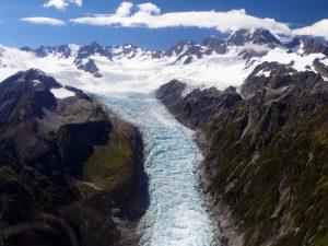 Survol du Fox Glacier