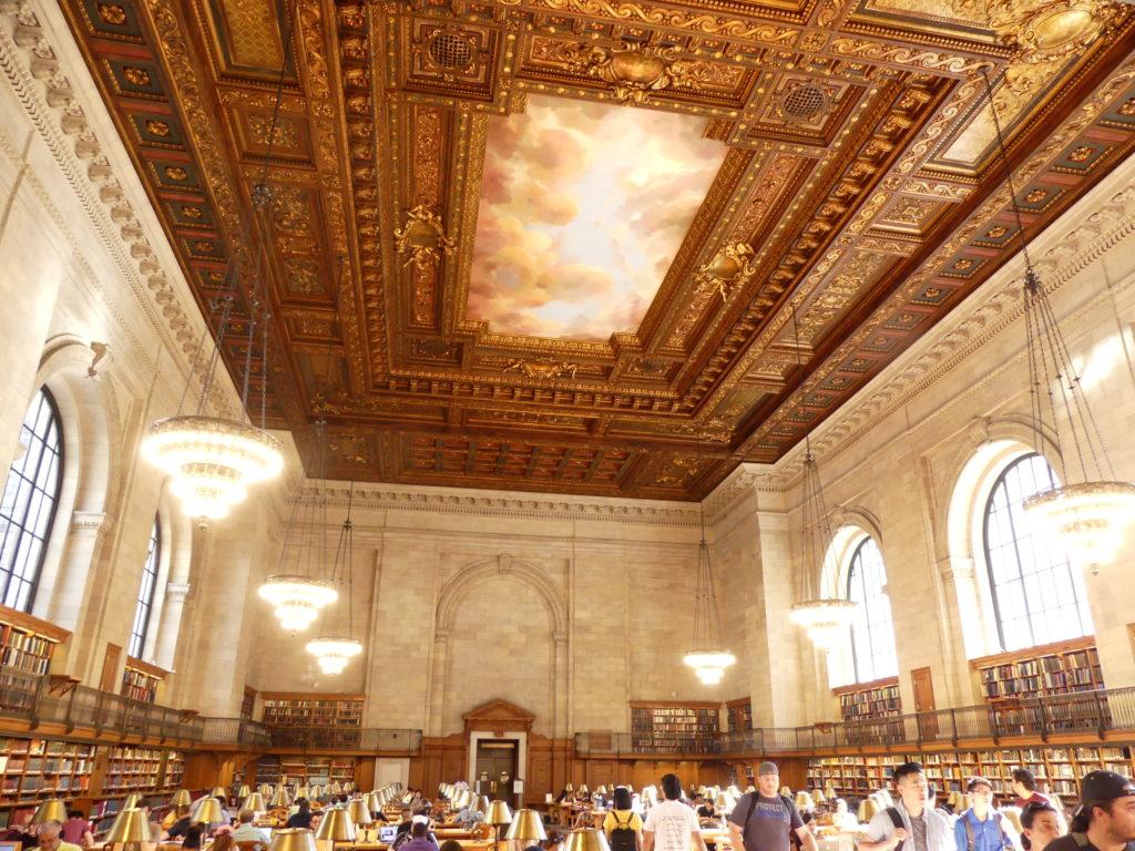 NY Public Library Main Branch : une salle de lecture