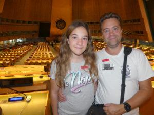Avec Audrey à l'assemblée générale
