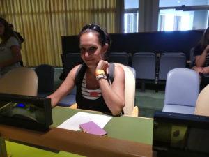 Chrystel a un siège à l'ONU