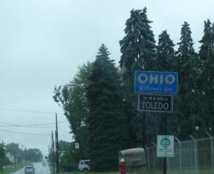 Ohio : arrivée sous la pluie