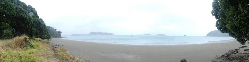 panoramique depuis la plage