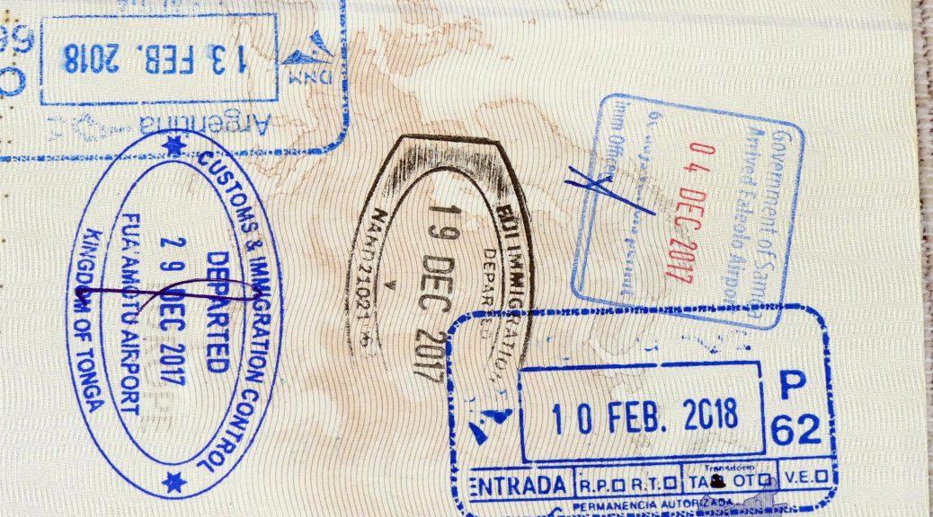 passeport tampon Argentine