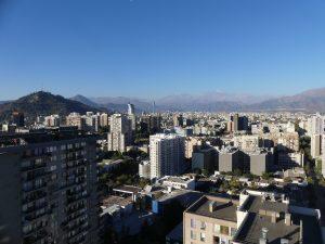 vue sur Santiago et les Andes