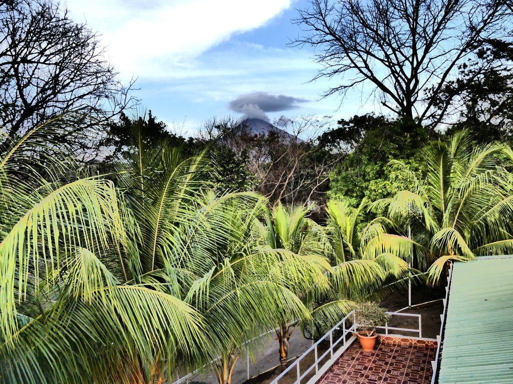 Le volcan vu depuis l'hôtel