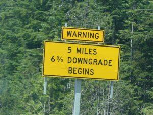 Attention descente à 6%