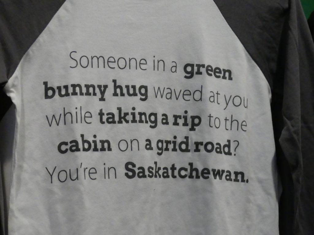 Tshirt humoristique sur la Saskatchewan