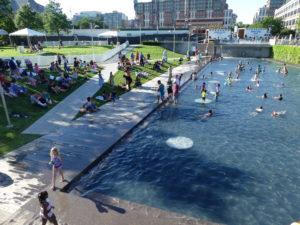 Un bassin transformé en piscine publique