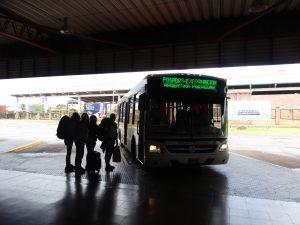 Posadas, on monte dans le bus pour Encarnacion