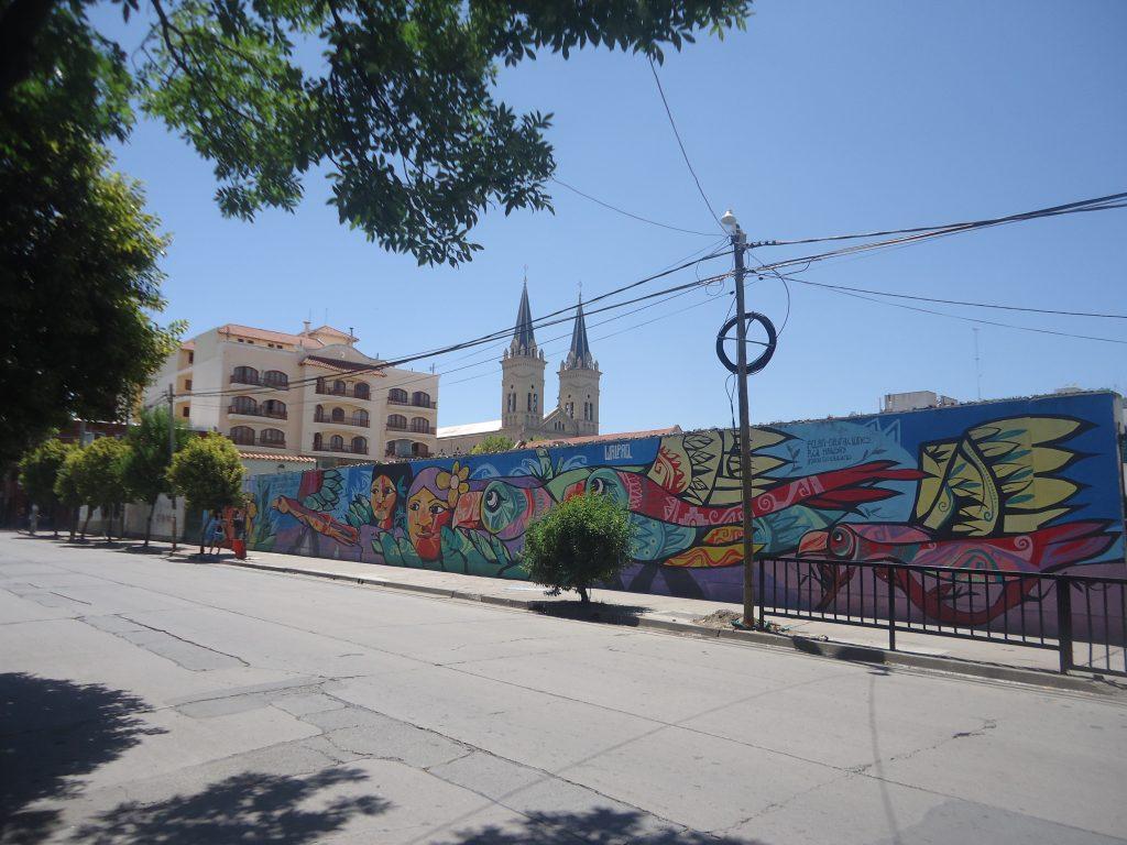 Salta : ici aussi beaucoup de murs peints