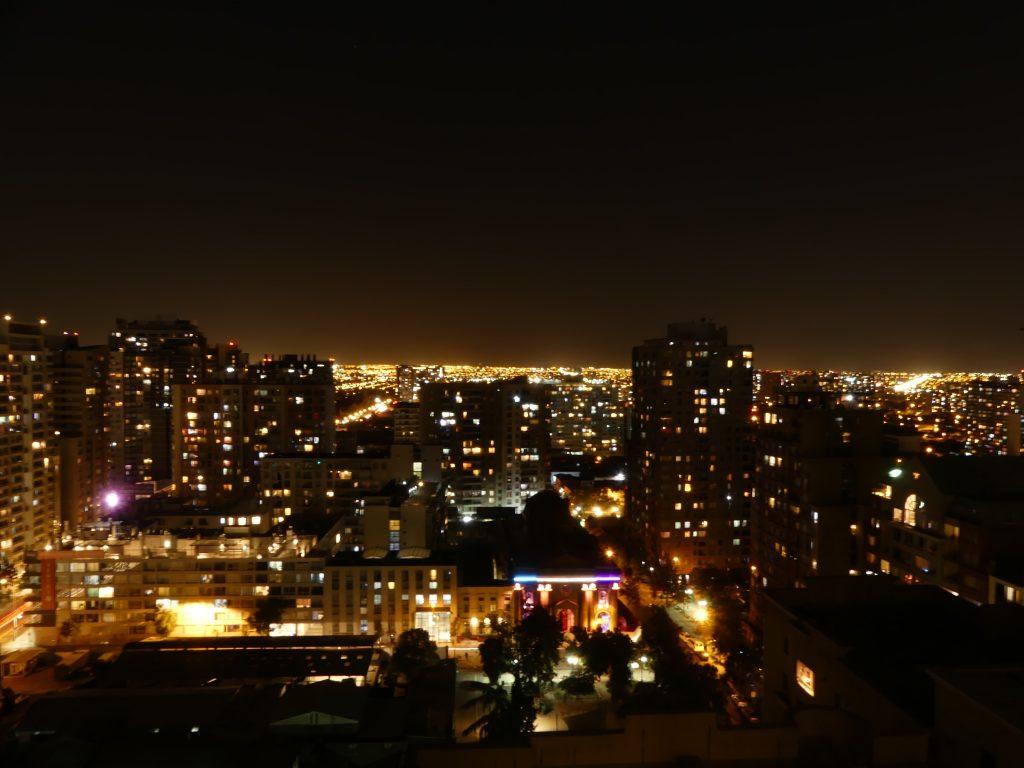 Santiago by night