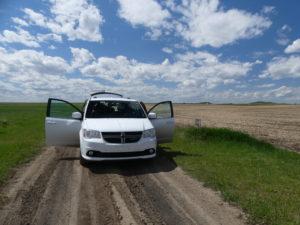 Et là, au milieu de l'Alberta, on s'arrête.
