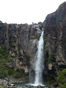 Taranaki Falls : un fada est en haut de la cascade