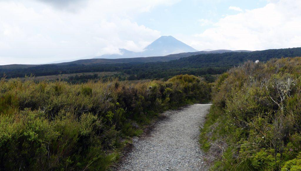 le sentier et le volcan