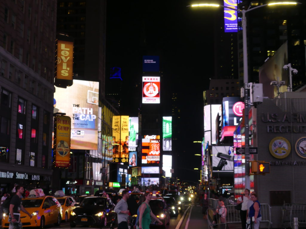 Times Square by night
